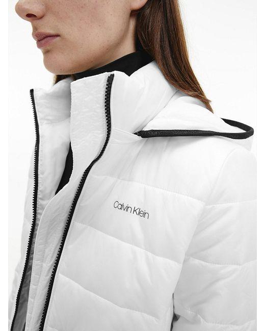 Calvin Klein Compact Lichtgewicht Donzen Donspufferjack in het White
