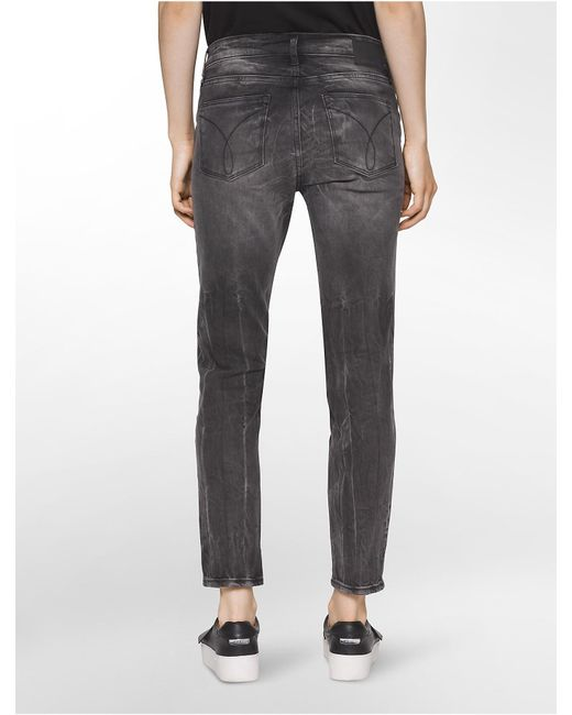 77ed5283fc ... Calvin Klein | Gray Jeans Ultimate Skinny Cement Ankle Jeans | Lyst