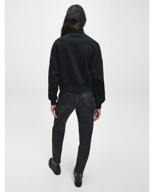 Calvin Klein Gerecycled Sweatshirt Van Katoenmix Met Logo in het Black