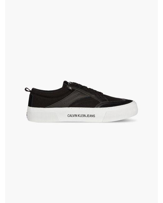 Calvin Klein Sneakers aus Canvas in Black für Herren