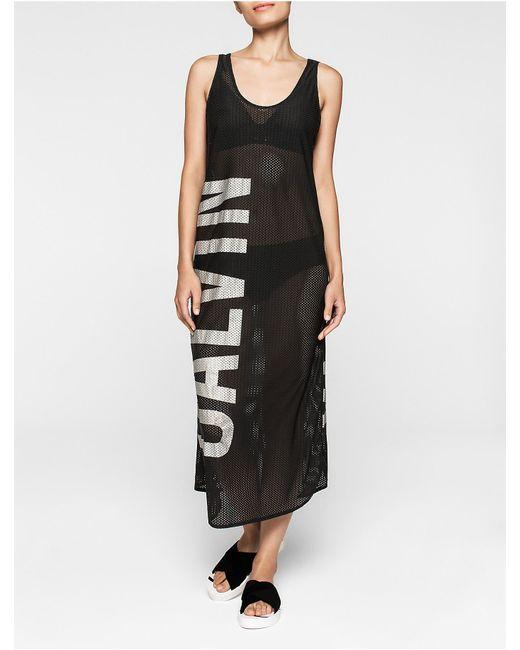 Calvin Klein | Black Intense Power Mesh Dress | Lyst