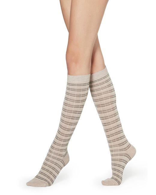 Calzedonia Natural Long Patterned Socks