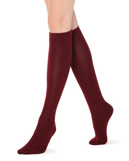 Calzedonia - Red Tall Patterned Socks - Lyst