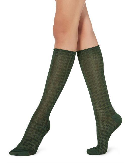 Calzedonia Green Long Patterned Socks