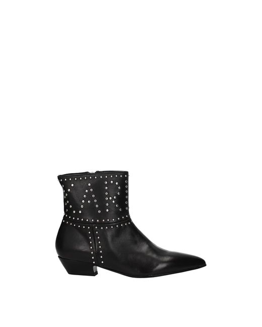 Karl Lagerfeld Black Ankle Boots Leather