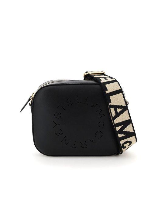 Stella McCartney Black Camera Bag With Perforated Stella Logo