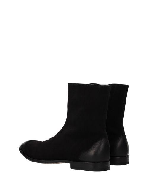 Alexander McQueen Ankle Boots Man Black for men