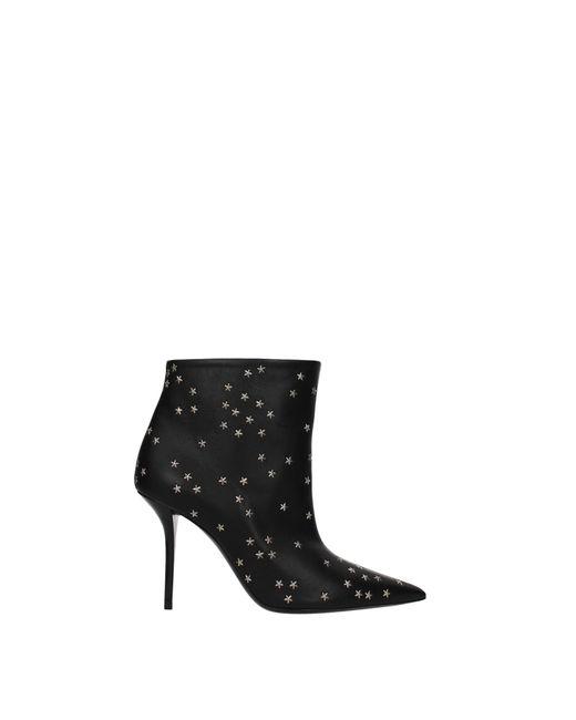 Saint Laurent Black Ankle Boots Pierre Leather