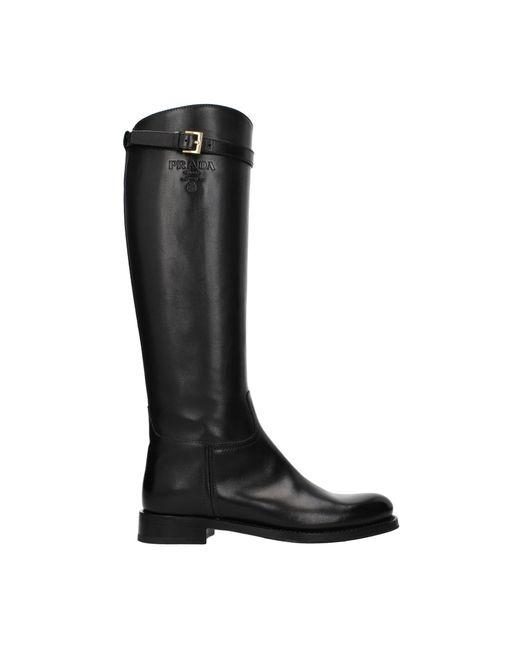 Prada Black Boots Leather