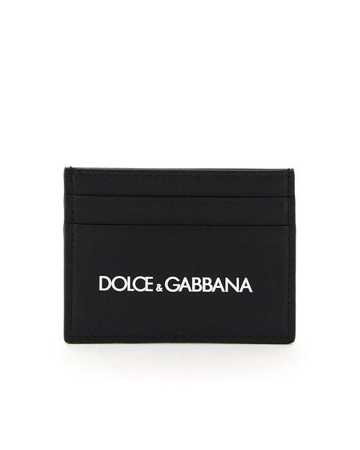 Dolce & Gabbana Black Dolce & Gabbana Logo Print Card Holder for men
