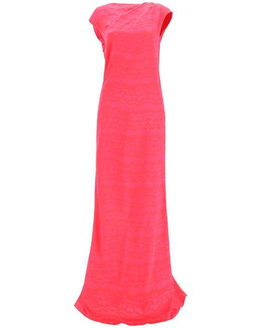 The Attico Pink Long Satin Dress