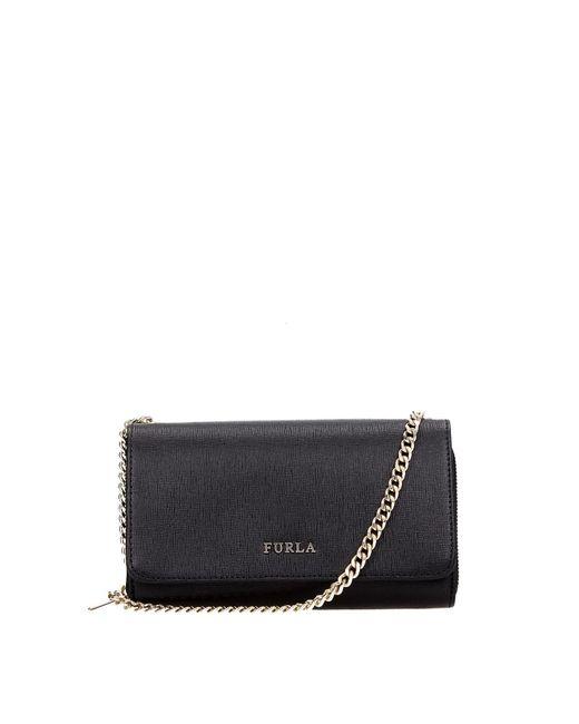 Furla Black Wallets Leather