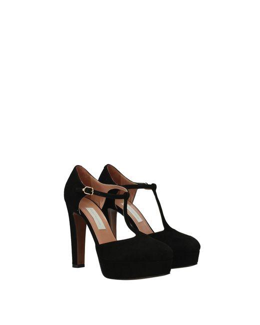 L'Autre Chose Black Sandals Suede