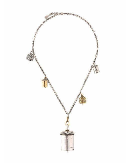 Alexander McQueen Metallic Necklaces Women Silver