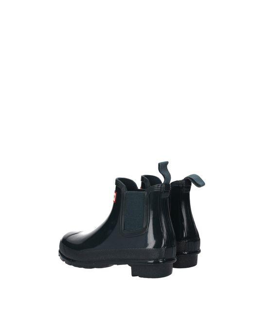 HUNTER Rubber Ankle Boots Women Green Lyst