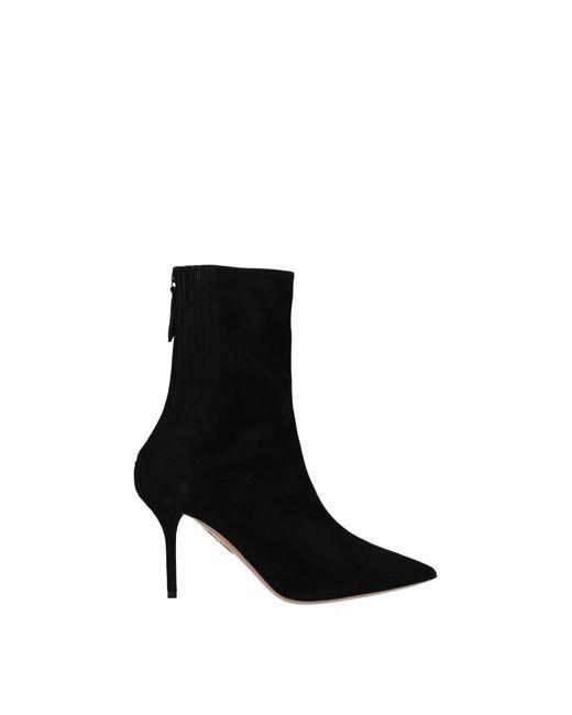 Aquazzura Ankle Boots Saint Honore Women Black