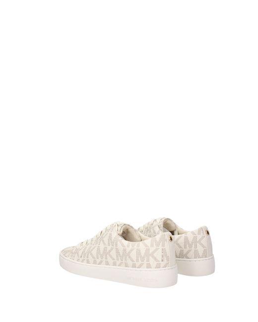 Michael Kors Natural Beige Sneakers Keaton Lace Up