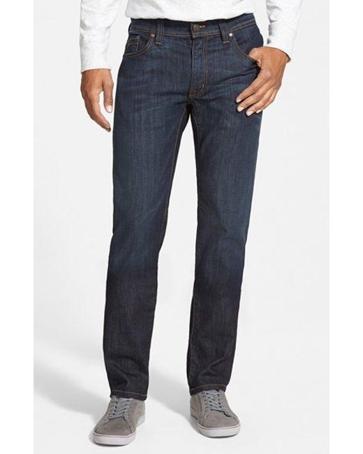 Fidelity jimmy slim straight leg jeans in blue for men clampdown