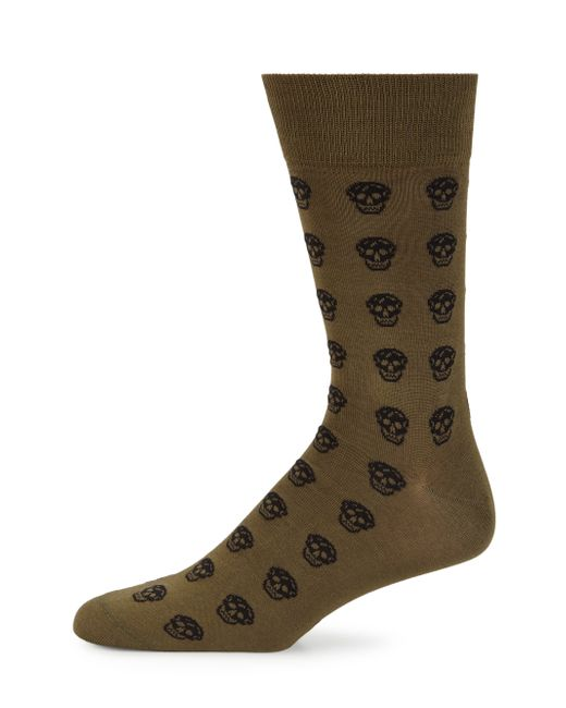 Alexander McQueen | Black Skull Print Socks for Men | Lyst