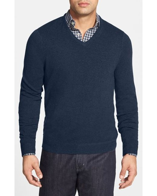 John W. Nordstrom | Blue John W. Nordstrom Cashmere V-neck Sweater for Men | Lyst