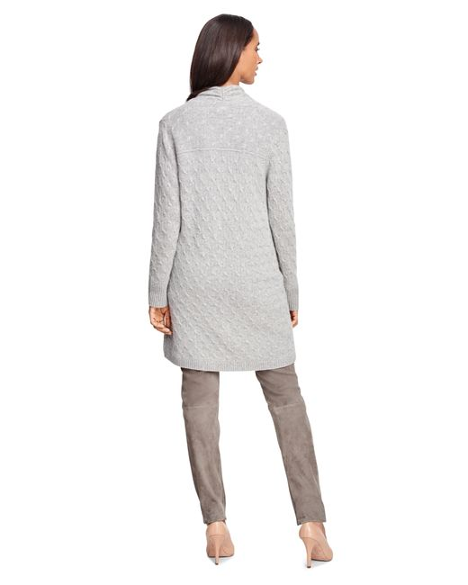 Brooks Brothers | Gray Cashmere Cable Long Cardigan | Lyst