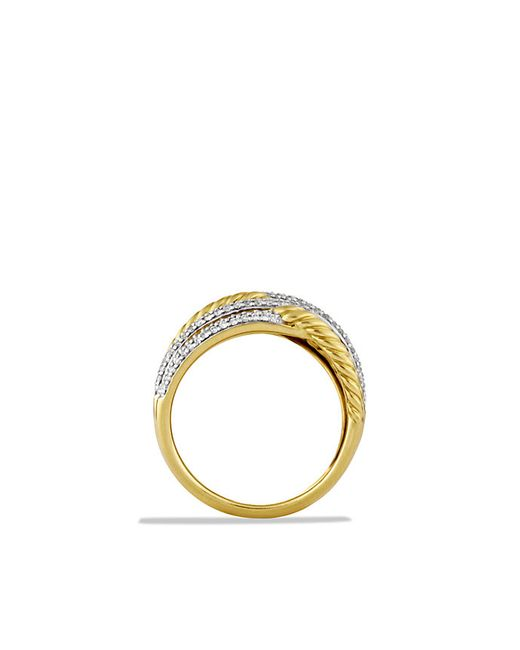 David Yurman   Metallic Labyrinth Triple-loop Ring With Diamonds In 18k Gold   Lyst