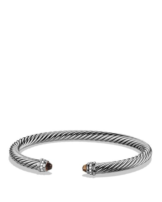 David Yurman | Metallic Cable Classic Bracelet With Carnelian And 14k Gold, 5mm | Lyst