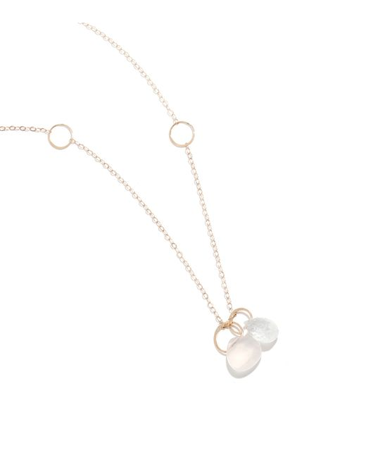 Melissa Joy Manning | Metallic Pink Chalcedony And Moonstone Drop Necklace | Lyst