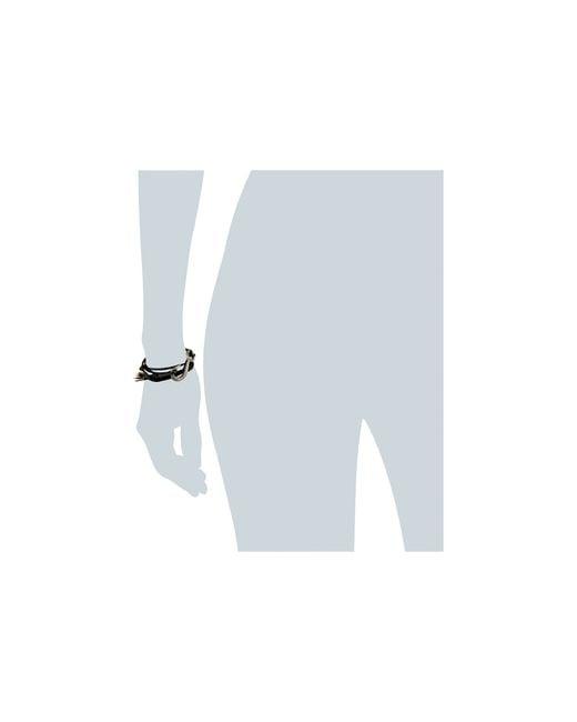 Giles & Brother | Black Leather Lash Hook Wrap Bracelet | Lyst