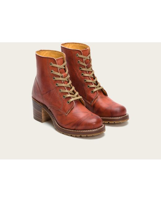 Frye | Red Sabrina 6g Lace Up | Lyst