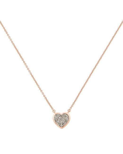 Links of London | Metallic Diamond Essentials Pavã© Diamond Heart Necklace | Lyst