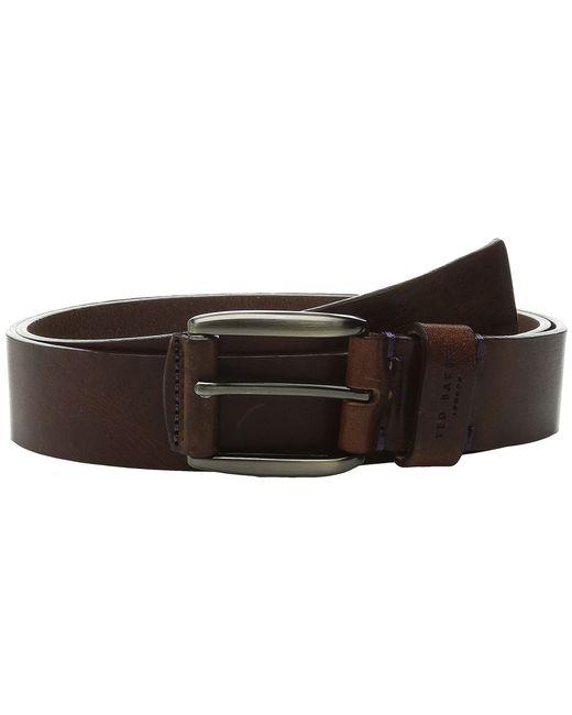 Ted Baker | Brown Jeebelt Textured Leather Jean Belt for Men | Lyst