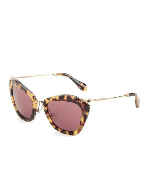b53c51fd1c293 Miu miu Noir Women  39 s Sunglasses in Brown