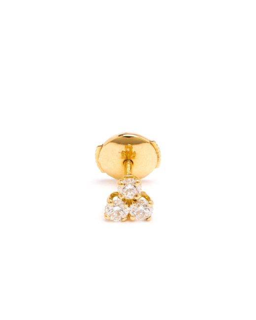 Yvonne Léon | Metallic 18K Gold And Diamond Trilogy Stud | Lyst