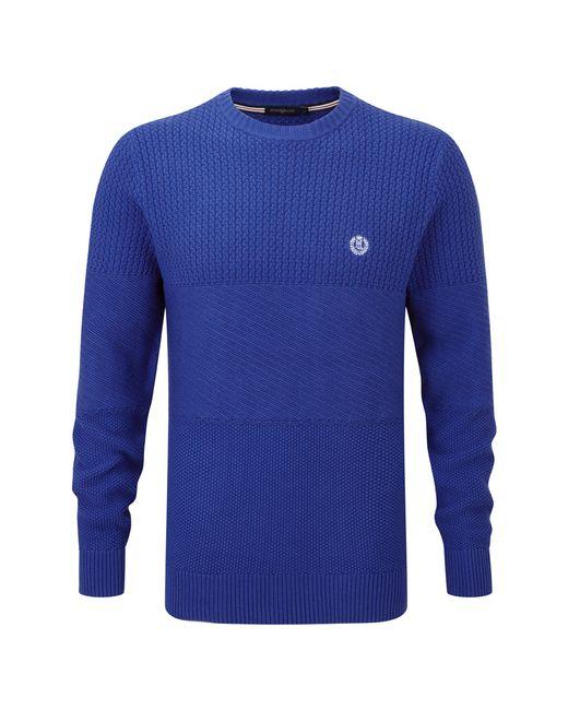 Henri Lloyd   Blue Falcutt Regular Crew Neck Knit for Men   Lyst