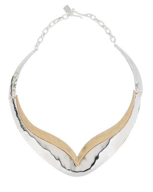 Robert Lee Morris | Multicolor Boho City Hammered Two-tone Collar Necklace | Lyst