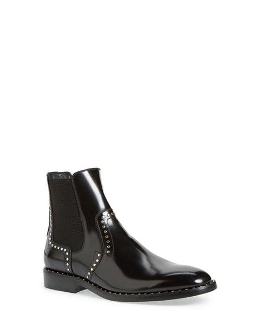 Jimmy Choo Fergus Studded Chelsea Boot In Black For Men