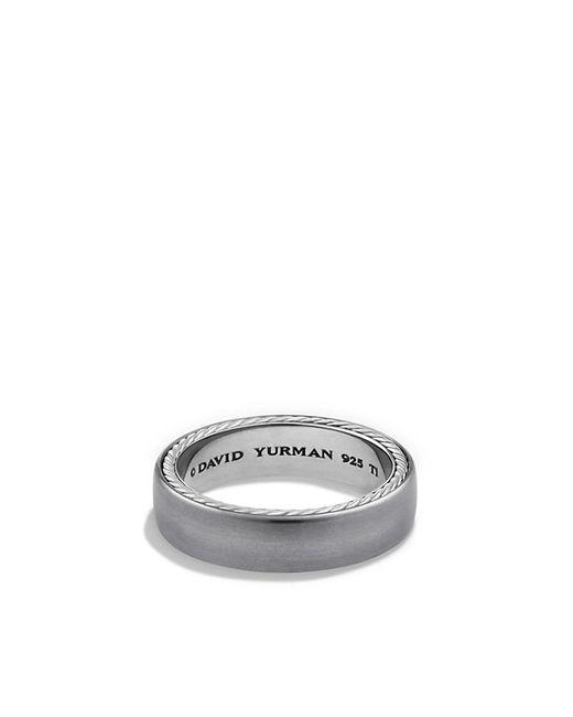David Yurman | Metallic Streamline Narrow Band Ring With Gray Titanium, 6mm for Men | Lyst