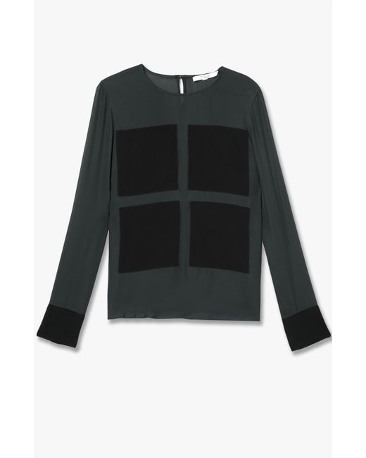 Derek Lam | Green Contrast Patches Top | Lyst