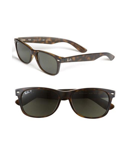 ray ban 39 new wayfarer 39 55mm polarized sunglasses in black. Black Bedroom Furniture Sets. Home Design Ideas