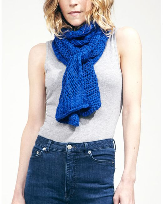 Wool And The Gang | Blue Lacey Sissi Scarf | Lyst