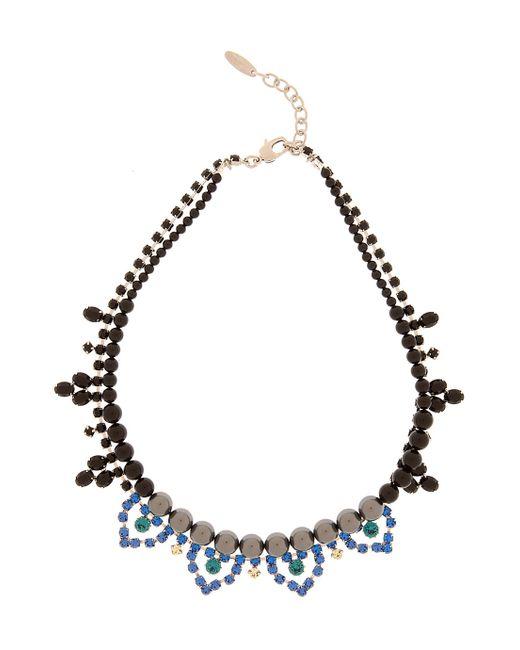Joomi Lim | Blue Crystal & Pearl Necklace | Lyst