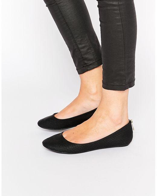 call it brevia black ballerina flat shoes in black