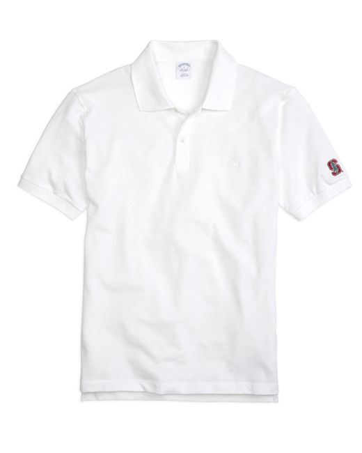 Brooks Brothers | White Stanford University Slim Fit Polo for Men | Lyst