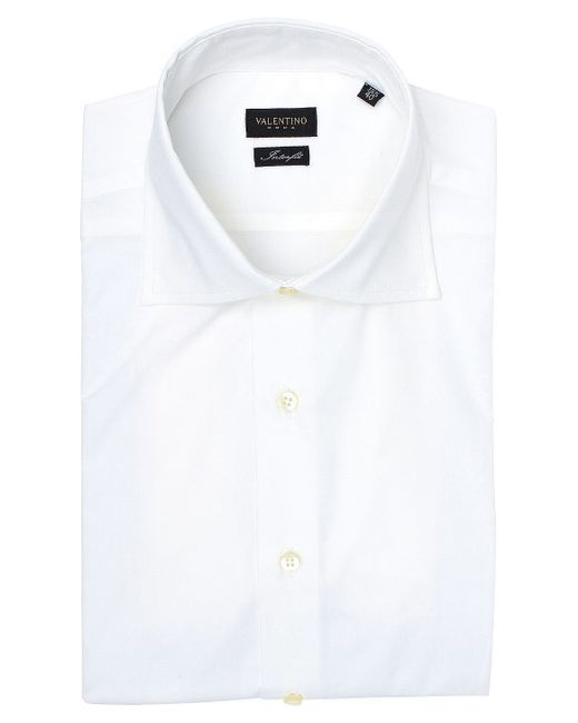 Valentino roma spread collar interfit stretch cotton dress for Wide spread collar shirt