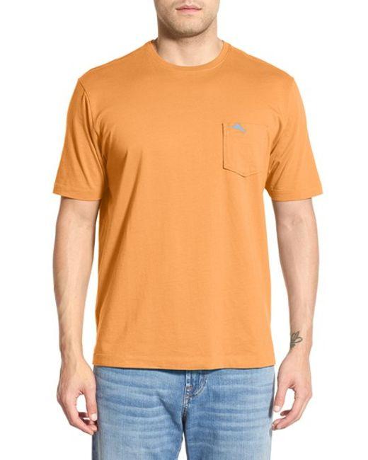 Tommy bahama 39 new bali sky 39 pima cotton pocket t shirt in for Tommy bahama florida shirt