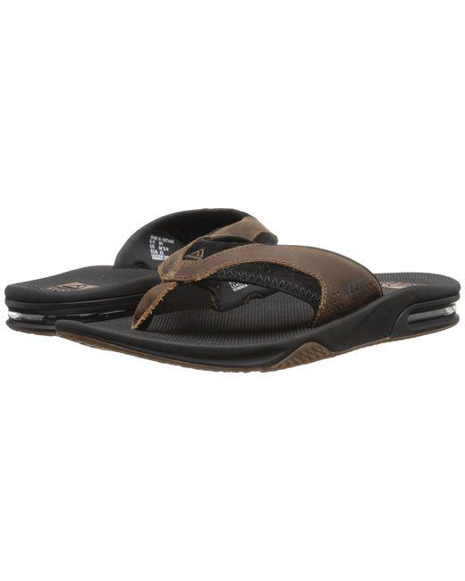 Reef Fanning Leather In Black For Men Blackbrown  Lyst-2576