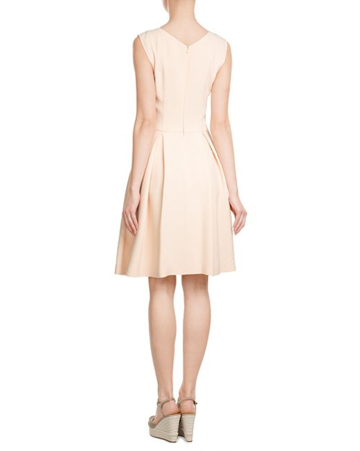 hugo dress with pleated skirt in pink lyst