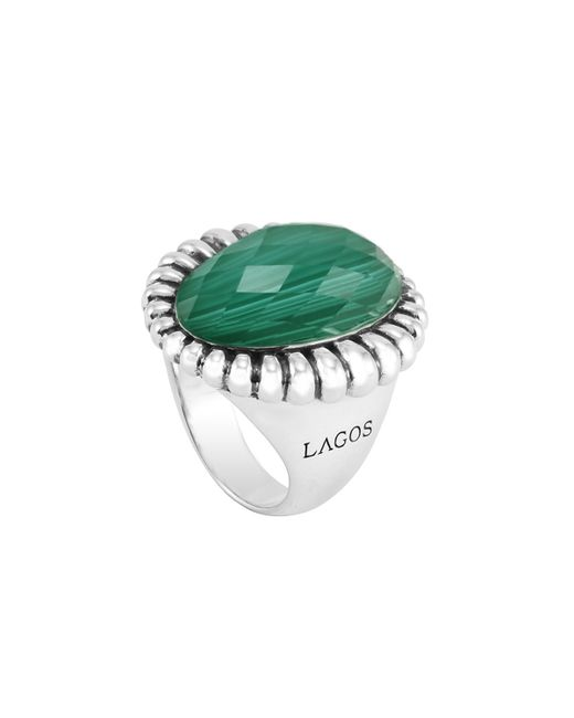 Lagos | Green Venus Malachite Fluted Doublet Ring | Lyst