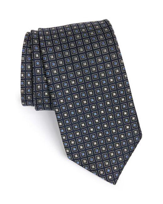 JZ Richards | Black Medallion Silk Tie for Men | Lyst